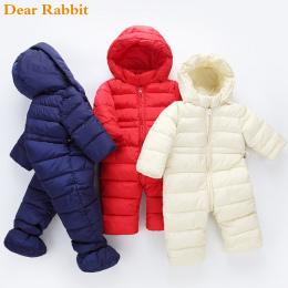 2018 marka newborn zima dziewczynka ubrania chłopiec odzież światła bawełna płaszcze wiosna kombinezony kidsr snowsuit Zużycie Ś