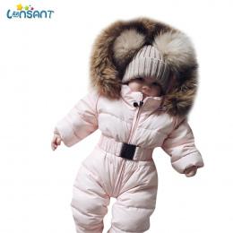 LONSANT Unisex Dziecko Romper Zima kostium boys baby dziewczyny ubrania Dzieci Kurtka Kombinezon Z Kapturem Ciepły Gruby Płaszcz