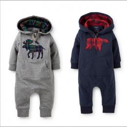 Baby Boy Ubrania Niemowlęce Śpioszki Z Kapturem Polar Noworodka Odzież Jeden Kawałek baby girl ubrania Romper Piżamy