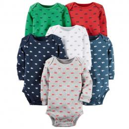 6 sztuk/partia Wiosna Jesień z długim Rękawem zestaw ubrań dla dzieci, dzieci bébés chłopiec dziewczyna odzież zestaw Noworodka