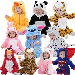 Pajacyki dla dzieci hello kitty dziewczyny ubrania nowo narodzonych dzieci Kreskówki piżamy ciepłe zimowe Piżamy zwierząt roupas