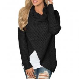 Kobiety sweter z dzianiny z Długim Rękawem o szyi Jednolity dziewczyna Sweter Sweter Topy Bluzki Koszula swetry zima kobiety odz