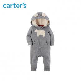 1 sztuk 3D zwierząt uszy Kapturem melanż Polar Kombinezon Carter baby boy odzież jesienno-zimowa 118H621/118I728/ 118I726/118I77