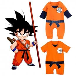 Dragon Ball Baby Pajacyki Newborn Baby Chłopcy Ubrania SON GOKU Maluch Kombinezon Bébés Kostiumy Halloween Dla Baby Boy Dziewczy