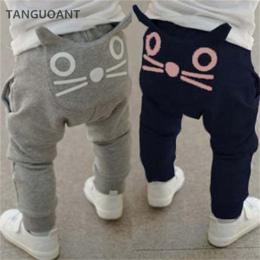 TANGUOANT sprzedaż Detaliczna gorąca wiosna i jesień dzieci odzież chłopcy dziewczyny harem spodnie bawełniane sowa spodnie dzie