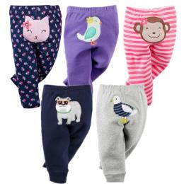 5 SZTUK Unisex Bawełniane Spodnie Wiosna Jesień Kreskówki Dla Dzieci Spodnie Dziecięce Odzież Baby Boy Ubrania Noworodka Bebe Ma