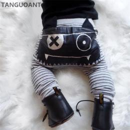 TANGUOANT Gorąca Sprzedaż Dziewczyny Boys Baby Cute Paski Potwór Spodnie Dolne Legginsy Spodnie Harem Dzieci Spodni