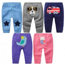 5 sztuk Dziecko Spodnie Wiosna Baby Girl Ubrania Bawełna Baby Boy Ubrania Kreskówki Noworodka Spodnie Roupas Bebe Niemowlę Dziec