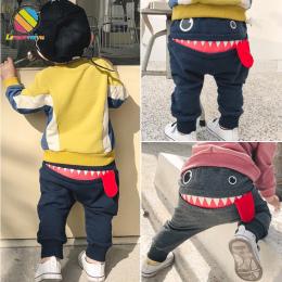 Lemonmiyu Baby Boy Spodnie Dla Noworodka Bawełniana Pełny Długość Wiosna Jesień Casual Maluch Spodnie Kreskówka Luźne Elastyczne