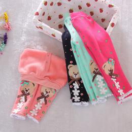 2018 nowy zima dziecko ciepłe spodnie jesienią i zimą polarowe Legginsy nowa niemowląt dzianiny spodnie rozmiar 0-2 lat dziecko