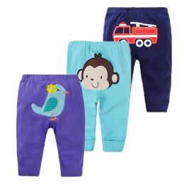 3 sztuk Dziecko Spodnie Wiosna Baby Boy Ubrania Kreskówki Noworodka Spodnie Bawełna Baby Girl Odzież Roupas Bebe Niemowlę Dzieck
