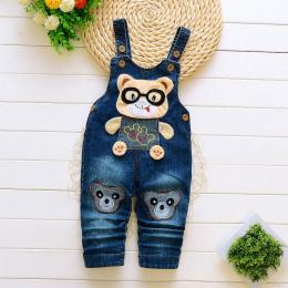 Dziecko spodnie jeansowe kombinezony dla niemowląt 2018 jesień małe dzieci spodnie na szelkach spodnie dla malucha dla dzieci ch