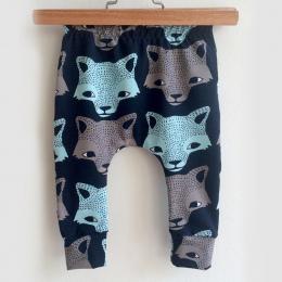 Puseky Moda Dla Dzieci Spodnie Cartoon Zwierząt Wilk Drukuje Chłopcy Spodnie Casual Harem Spodnie Bawełniane Spodnie 4-24 m Zima