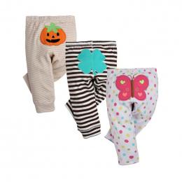 3 SZTUK/PARTIA Moda Dla Dzieci Spodnie Wiosna Jesień Bawełniane Spodnie Dziecięce Spodnie Cartoon Monkey Dziecko Gril 0-24 Nowor