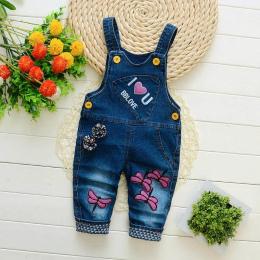 Pajacyki dziecięce dziecko spodnie jeansowe kombinezony dzieci jesień szelki dziecko spodnie na szelkach dla dzieci chłopcy dzie