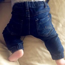 Dziecko Denim Jeans Chłopcy Dziewczęta Spodnie Noworodka Bebe Harem Spodnie Legginsy Ciepłe Miękkie Pantalones Niemowlę Maluch N