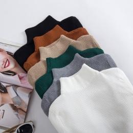 GIGOGOU Jesień Zima Kobiety Swetry Sweter Z Dzianiny Elastyczność Casual Jumper Moda Szczupła Golfem Ciepłe Kobiet Swetry