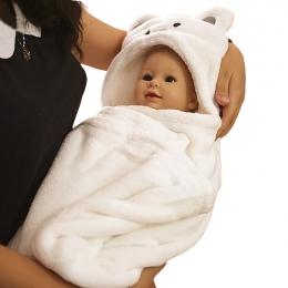 Newborn Baby Szlafrok Piżama Cute Animal Cartoon Dzieci Dzieci Koc Szlafrok Z Kapturem Podkładów Maluch Wygodne Ręcznik kąpielow