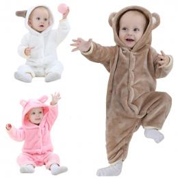 Marka Projektant Miękkie Flanelowe Piżamy Dla Dzieci Kawaii Kids Boy Dziewczyny Piżamy Ciepłe Chłopcy Dziewczyny Z Kapturem Romp
