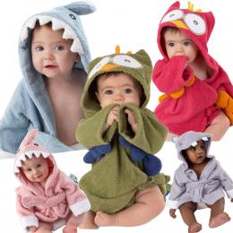 Dzieci Cartoon Zwierząt Chłopcy Dziewczęta Piżamy Flanelowe Szaty Szlafrok Bielizna Nocna Dla Dzieci Romper Dzieci Home Wear Piż