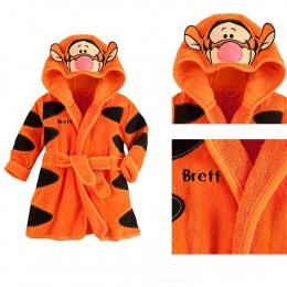 2015 darmowa wysyłka new Baby Dziewczyny Chłopcy cartoon tiger romper Piżamy szlafroki dzieci miękkie ręczniki