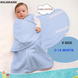 2018 Moda Newborn Baby Dzieci Śpiwór 100% Bawełna Cartoon Uśpienia Worek Niemowlę dziecko do przewijania wrap niemowląt Koc & Pi