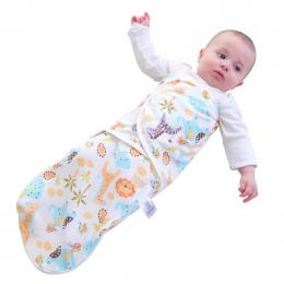 Noworodka 0-6 M Dziecko Śpiwór Koperta Bawełna Miękka Oddychająca Kokon Małe Bebe Dzieci Przewijać Dziecko Koc Sleepsack Dziecka