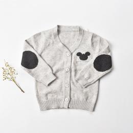 9-24 m Sweter baby boy 2018 Zima baby boy ubrania pełne rękawem bawełna dziecko sweter koszule maluch cardigan noworodka ubrania