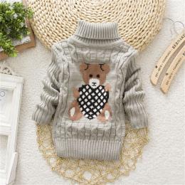 BibiCola dziewczynek sweter jesień/zima nosić ciepłe kreskówki sweatershirt dzieci swetry odzieży noworodka golf ubrania