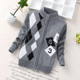 Boys baby zipper swetry 0-3 lat dzieci moda nowy projekt cardigans 2017 gorąca sprzedaż przedszkola małe dzieci swetry multicolo