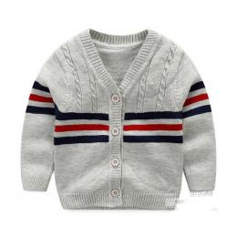 100% Bawełna Dziecko Sweter Z Paskiem Dekolt Przycisk Sweter Brytyjski Wypoczynek Malucha Boys Baby Dzianiny Swetry 2018 Wiosna