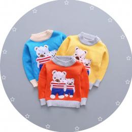 BibiCola zimowe ubrania dla dzieci chłopcy dziewczęta swetry cartoon maluch dzianina swetry outerwear dzieciom ciepłe bielizna d