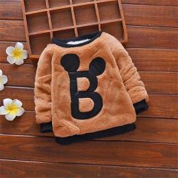 BibiCola Boys Baby Zimowe Swetry Dla Dzieci Chłopcy Kreskówki Ciepłe Aksamitne Swetry Dzieci Chłopcy Zimowe Swetry sweter Chłopi