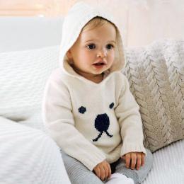 Wiosna Swetry Z Dzianiny Dla Dziecka Chłopcy Dziewczyny Cardigan Cartoon Wzór Noworodka Dziecko Króliczek Skoczków Jesień Odzież
