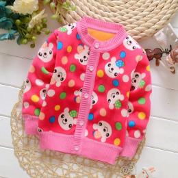 BibiCola wiosna jesień dziecko dziewczyny/chłopcy sweter sweter koloru cukierków dzieci dodaj aksamitna odzieży sewater dzieci K