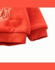 BibiCola dziewczynek chłopcy zima jesień swetry aksamitna zagęścić ciepłe pełna rękaw bluzki swetry kostium bawełna O fizyczni u
