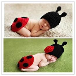 Ręcznie tkane beetle noworodków ubrania Dla Dzieci chłopiec i dziewczynka + szydełka do biodra do oddawania moczu rondo kapelusz