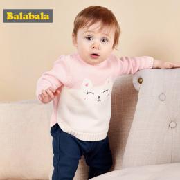 Balabala Dziecko Chłopcy dziewczyny niemowląt Sweter Jesień Zima Noworodka Bawełniane Ubrania Sweter Sweter Wzór Otwórz Ramię Dl