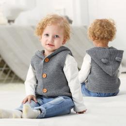 Baby Boy Ubrania Wiosna Noworodka Ubrania Dla Dzieci Dziecko Sweter Bez Rękawów Stałe Sweter Modne Ubrania Dla Dzieci Ubrania Dl