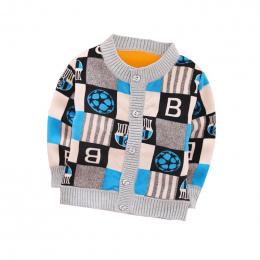 Jesień Zima Nowe Dziecko Sweter Plus Aksamitne Ciepłe 12 Style Cartoon Sweter Dla Chłopca 0-2 Rok Dzieci Dziewczyny sweter