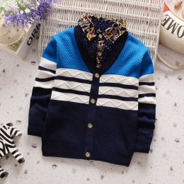 BibiCola Nowe Chłopcy Zima Jesień Sweter Baby Boy Ubrania Casual V Neck Sweter Sweter Dzieci Odzieży Wierzchniej Odzieży 001