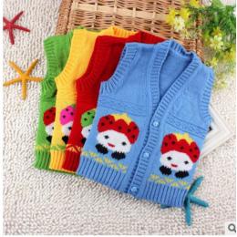 Wełniane Kaszmirowe Sweterki Kamizelki Dla Dzieci Niemowląt Chłopców Dziewczynki Tanie Ciepłe