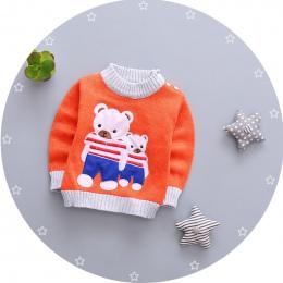 BibiCola dziewczynek chłopcy jesień/zima nosić ciepłe cartoon swetry swetry odzieży wierzchniej Niedźwiedź sweter dla Noworodka