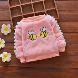 BibiCola 2018 boys Baby sweter jesień pszczoła cartoon odzież dla bebe dziewczyny niemowląt maluch zima zagesccie plus aksamitne