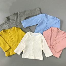 Baby Boy Dziewczyna Bawełniane Długi Rękaw Sweter Cardigan Dla Noworodka Ciepłe Ubrania Dla Dzieci Chłopiec Dziewczyna Odzież Dz