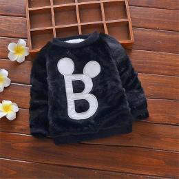 Boys Baby sweter zima noworodków ciepłe casual pullover odzieży wierzchniej dla bebe chłopcy dziecięce plus aksamitna pogrubieni