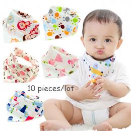 10 części/partia Bawełna new Baby babador bandana śliniaki dla niemowląt Szalik chłopcy Dziewczyny dziecko na szelkach burp płót