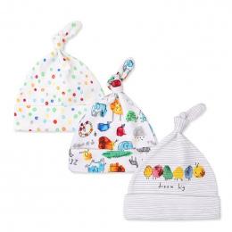 3 sztuk/partia Czapki Dla Dzieci 100% bawełna Drukowana Dzieci Kapelusze i Czapki Dla 0-6 Miesięcy Newborn Baby Akcesoria KF268