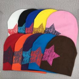 Gwiazda dziecko kapelusz noworodek noworodka wiosną i zimą ciepłe odcinek bawełna dziecko kapelusz wielu kolor cukierki kolor śl