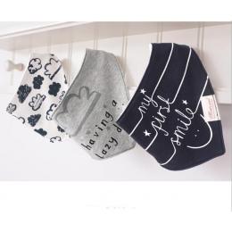3 sztuk/partia 100% bawełna dziecko chłopców i dziewcząt śliniaki dla niemowląt ręcznik bandany szalik dzieci krawat niemowląt r
